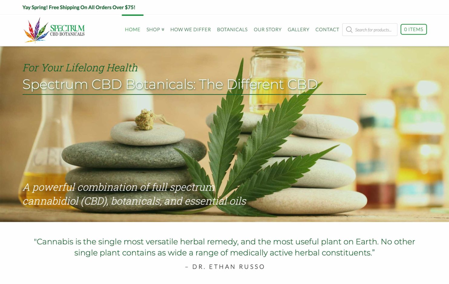 Spectrum CBD Blend Web Marketing